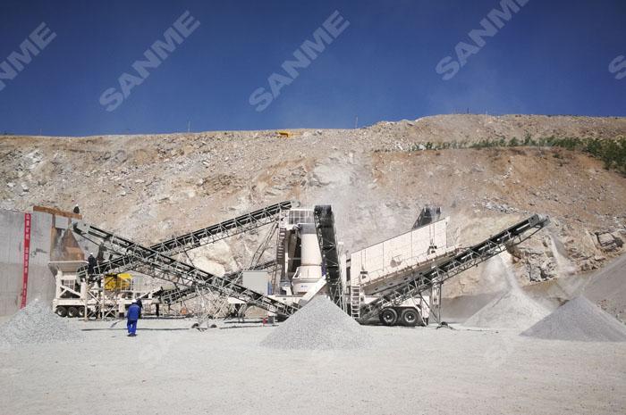 移动式花岗岩制砂生产xian